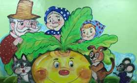 Роспись стен в Замятинском детском доме