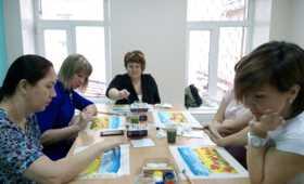 Занятие по живописи для мам «особенных» детей